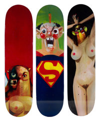 Supreme X George Condo Skate Decks, set of three, 2010 Offset lithograph in colors on skate decks