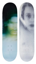 Collectible, Supreme X Harmony Korine. Set of Two Skate Decks, 2011. Screenprint in colors on skate decks. 32 x 8 inches (81.3 x 20.3... (Total: 2 Items)