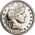 Proof Barber Quarters, 1906 25C PR67 PCGS....