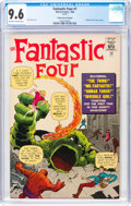 Silver Age (1956-1969):Superhero, Fantastic Four #1 Golden Record Reprint (Marvel, 1966) CGC NM+ 9.6 Off-white to white pages....