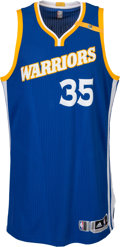 Basketball Collectibles:Uniforms, 2016-17 Kevin Durant Game Worn Golden State Warriors Jersey - Photo Matched to 10/30 vs. Suns....