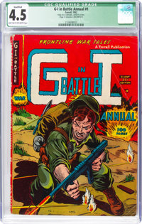 G-I in Battle Annual #1 (Farrell, 1952) CGC Qualified VG+ 4.5 Light tan to off-white pages