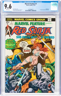 Marvel Feature #1 Red Sonja (Marvel, 1975) CGC NM+ 9.6 White pages