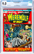 Bronze Age (1970-1979):Superhero, Marvel Spotlight #4 Werewolf by Night (Marvel, 1972) CGC VF/NM 9.0 Off-white to white pages....