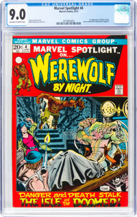 Marvel Spotlight #4 Werewolf by Night (Marvel, 1972) CGC VF/NM 9.0 Off-white to white pages