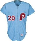 Baseball Collectibles:Uniforms, 1980 Mike Schmidt Game Worn Philadelphia Phillies Jersey, MEARS A10....
