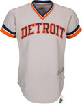 Baseball Collectibles:Uniforms, 1979 Alan Trammell Game Worn & Signed Detroit Tigers Jersey. ...