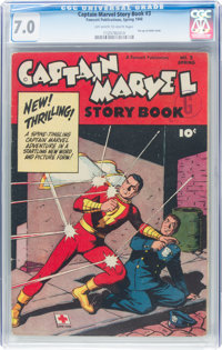 Captain Marvel Story Book #3 (Fawcett Publications, 1948) CGC FN/VF 7.0 Off-white to white pages