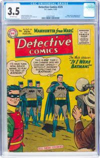 Detective Comics #225 (DC, 1955) CGC VG- 3.5 Off-white pages
