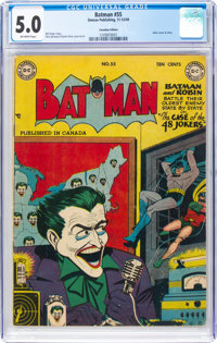 Batman #55 Canadian Edition (Simcoe Publishing, 1949) CGC VG/FN 5.0 Off-white pages
