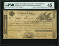 TN-6 $100 Act of March 4, 1814 Treasury Note PMG Choice Extremely Fine 45