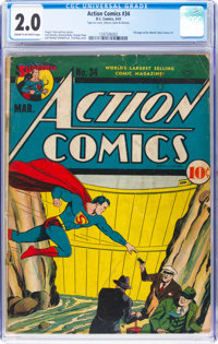 Action Comics #34 (DC, 1941) CGC GD 2.0 Cream to off-white pages