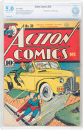 Action Comics #30 (DC, 1940) CBCS VG 5.0 Off-white to white pages