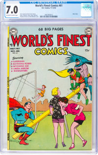 World's Finest Comics #61 (DC, 1952) CGC FN/VF 7.0 Off-white to white pages
