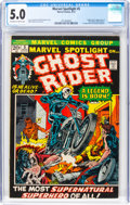 Bronze Age (1970-1979):Superhero, Marvel Spotlight #5 Ghost Rider (Marvel, 1972) CGC VG/FN 5.0 Off-white to white pages....
