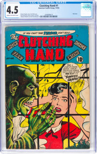 Clutching Hand #1 (ACG, 1954) CGC VG+ 4.5 Cream to off-white pages