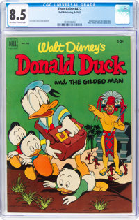 Four Color #422 Donald Duck (Dell, 1952) CGC VF+ 8.5 Off-white to white pages