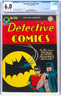 Detective Comics #108 (DC, 1946) CGC FN 6.0 Off-white to white pages