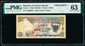 World Currency, Bahrain Currency Board 100 Fils 1964 Pick 1s Specimen PMG Choice Uncirculated 63.. ...