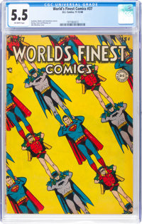 World's Finest Comics #37 (DC, 1948) CGC FN- 5.5 Off-white pages