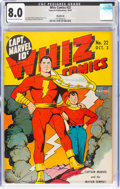 Golden Age (1938-1955):Superhero, Whiz Comics #22 Rockford Pedigree (Fawcett Publications, 1941) CGC VF 8.0 Off-white to white pages....