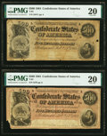 Confederate Notes:1864 Issues, T64 $500 1864 PF-1 Cr. 489A; PF-2 Cr. 489 PMG Very Fine 20.. ... (Total: 2 notes)