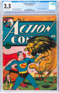 Action Comics #27 (DC, 1940) CGC VG- 3.5 Off-white pages