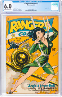 Rangers Comics #26 (Fiction House, 1945) CGC FN 6.0 Cream to off-white pages