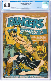Rangers Comics #14 (Fiction House, 1943) CGC FN 6.0 Cream to off-white pages