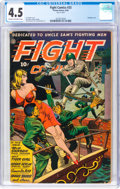 Golden Age (1938-1955):War, Fight Comics #33 (Fiction House, 1944) CGC VG+ 4.5 Cream to off-white pages....