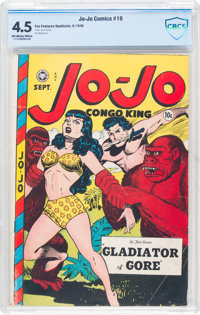 Jo-Jo Comics #19 (Fox Features Syndicate, 1948) CBCS VG+ 4.5 Off-white to white pages