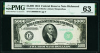 Fr. 2221-E $5,000 1934 Federal Reserve Note. PMG Choice Uncirculated 63