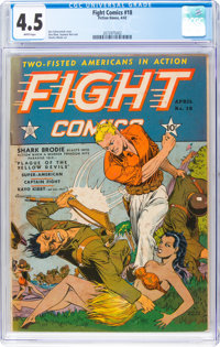 Fight Comics #18 (Fiction House, 1942) CGC VG+ 4.5 White pages