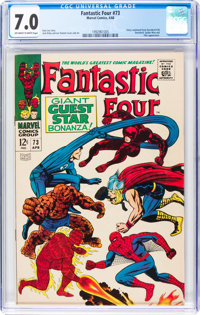 Fantastic Four #73 (Marvel, 1968) CGC FN/VF 7.0 Off-white to white pages