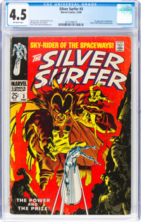 The Silver Surfer #3 (Marvel, 1968) CGC VG+ 4.5 Off-white pages