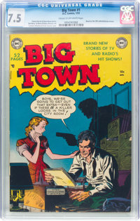 Big Town #1 (DC, 1951) CGC VF- 7.5 Cream to off-white pages