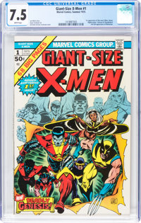 Giant-Size X-Men #1 (Marvel, 1975) CGC VF- 7.5 White pages