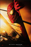 """Movie Posters:Action, Spider-Man (Columbia, 2002). Rolled, Very Fine-. One Sheet (27"""" X 39.75""""). DS Advance Twin Towers Style, Action.. ..."""
