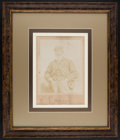 Golf Collectibles:Autographs, Circa 1900 Old Tom Morris Signed Oversized Cabinet Photograph, PSA/DNA NM-MT 8. ...