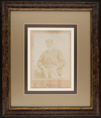 Circa 1900 Old Tom Morris Signed Oversized Cabinet Photograph, PSA/DNA NM-MT 8