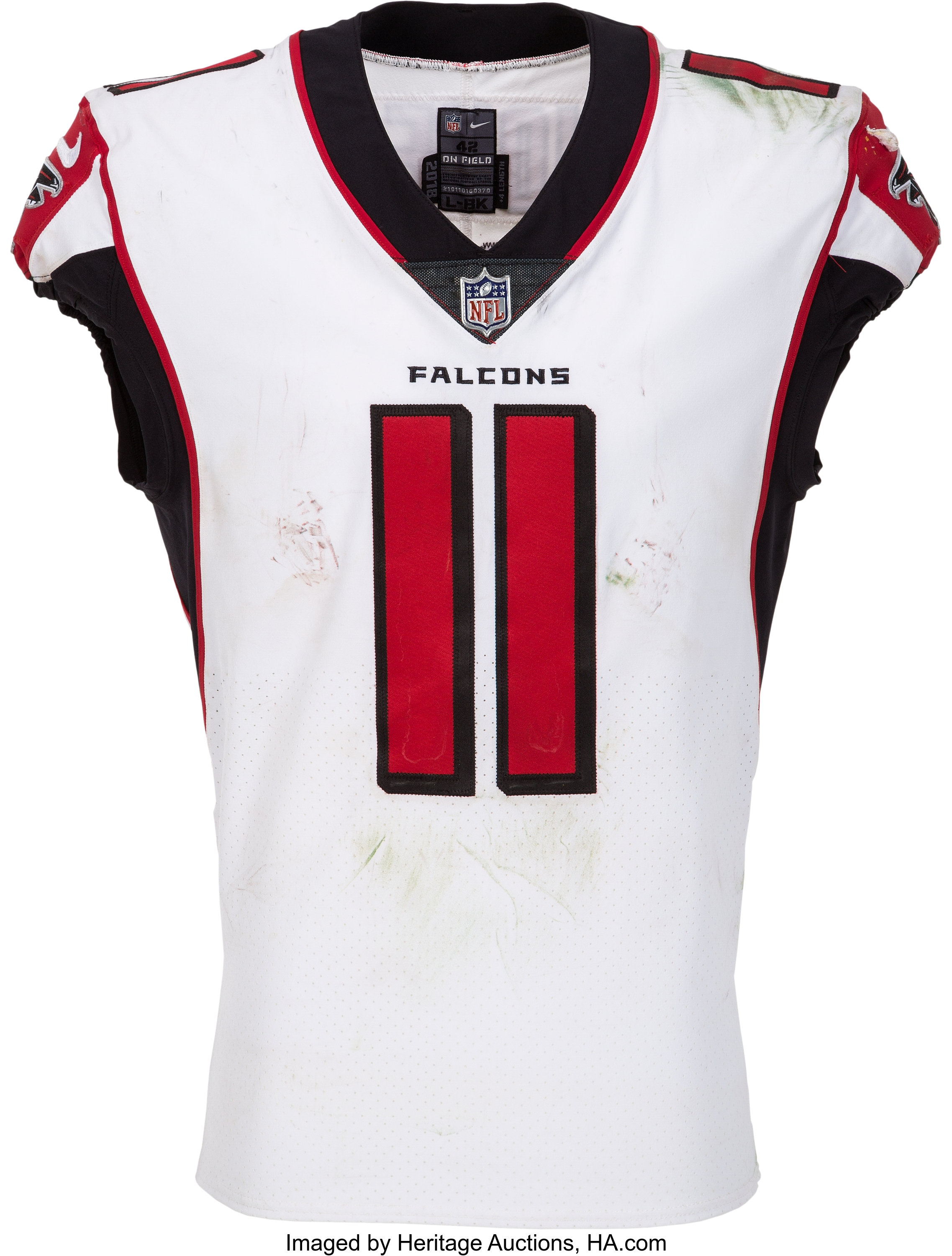 2018 Julio Jones Game Worn Signed Unwashed Atlanta Falcons Lot 80647 Heritage Auctions