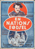 """Movie Posters:Drama, The Birth of a Nation (Kosmofilm, R-1922). Folded, Very Good/Fine. Danish Poster (25.25"""" X 35.5""""). Drama.. ..."""