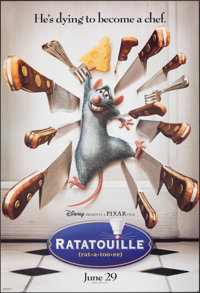"""Ratatouille & Other Lot (Buena Vista, 2007). Rolled, Very Fine. One Sheets (4) (27"""" X 40"""" & 26.75""""..."""