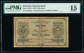 Finland Finlands Bank 5 Markkaa 1875 Pick A41b PMG Choice Fine 15