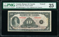 Canada Bank of Canada $10 1935 Pick 45 BC-8 PMG Very Fine 25