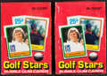 """Golf Cards:General, 1981 Donruss """"Golf Stars"""" Wax Box Pair - Each With 36 Unopened Packs. ..."""