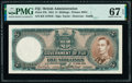 World Currency, Fiji Government of Fiji 5 Shillings 1.6.1951 Pick 37k PMG Superb Gem Unc 67 EPQ.. ...