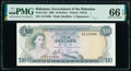 World Currency, Bahamas Bahamas Government 10 Dollars 1965 Pick 22a PMG Gem Uncirculated 66 EPQ.. ...