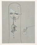 Works on Paper, Audrey Kawasaki (b. 1982). Girl with Rat, 2005. Graphite and pencil on paper. 9 x 7 inches (22.9 x 17.8 cm) (sheet). Sig...