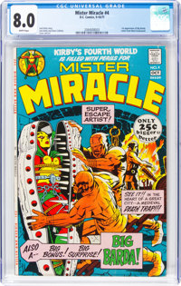 Mister Miracle #4 (DC, 1971) CGC VF 8.0 White pages